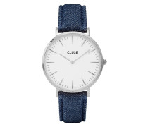 La Boheme Silver White/Blue Denim Uhr CL18229
