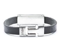 Silver Black Armband 24722-BRA-BLACK-L-1 (Länge: 21.50 cm)