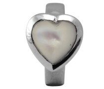 Mother of Perle Heart Silber Charm 21308