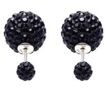 Double Dots Black Crystal Ohrringe 11003