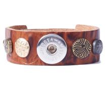 Divali Print Skinny Midbrown Armband WBS-131-58-M