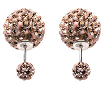 Double Dots Champagne Crystal Ohrringe 11004