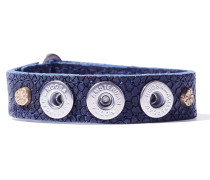 Petite D-Ring Blue Wrap Armband WPCS-9075-80-M