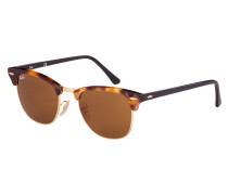 Clubmaster Sonnenbrille Spotted Brown Havana RB3016 1160