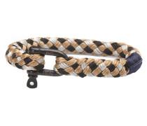 Hairy Harry Black/Silver/Camel Armband P17-90815 (Länge: 19.50-20.00 cm)