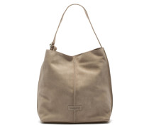 Shabbies Grain Leather Taupe Schultertasche 2330200013026-L