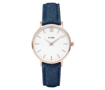 Minuit Rose Gold White/Blue Denim Uhr CL30029