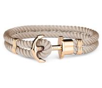 Phreps Anchor Gold Nylon Hazelnut Armband PH-PH-N-G-H (Länge: 19.00 cm)