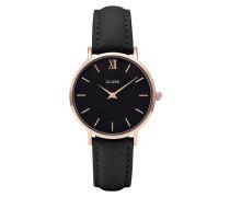 Minuit Mesh Gold Black/Black Uhr CL30026