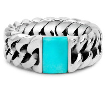 603TQ Chain Stone Turquoise Ring