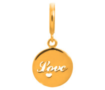 Love Coin Gold Charm 53304