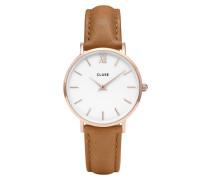 Minuit Mesh Gold White/Caramel Uhr CL30021