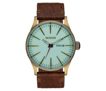 Sentry Leather Gold Uhr A1052223