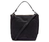 Core Medium Waxed Grain Leather Black Umhängetasche 2620200110001-M