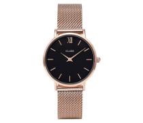 Minuit Mesh Rose Gold/Black Uhr CL30016