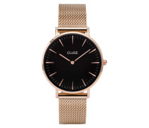 La Boheme Mesh Rose Gold/Black Uhr CL18113
