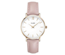 Minuit Rose Gold White/Pink Uhr CL30001