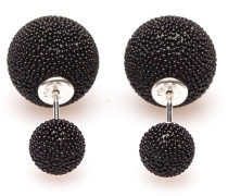 Double Dots Black Mini Spike Ohrringe 11171