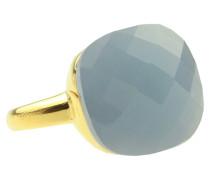 Square Gem Light Blue Gold Ring 4109-R-3659-16
