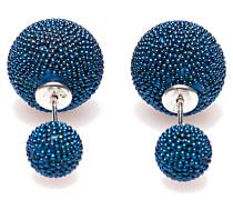 Double Dots Blue Mini Spike Ohrringe 11172