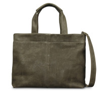Trend Medium Waxed Grain Leather Olive Brown Schultertasche 2320200033032-M