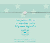 Good Friends Are Like Stars Armband B105STA13S