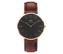 Classic Black St Mawes Uhr ( MM) DW00100124