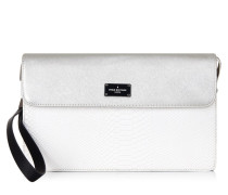 Veronica White Snake Clutch PBN126121