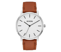 The Porter Leather White Sunray/Saddle Uhr A1058-2442