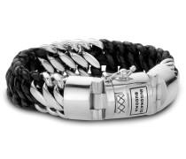 815 Ben Mix Silver/Leather Black Armband