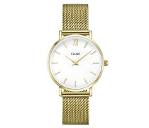 Minuit Mesh Gold/White Uhr CL30010