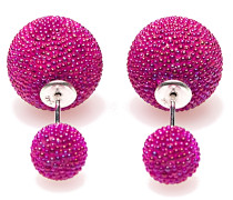 Double Dots Fuchsia Mini Spike Ohrringe 11174