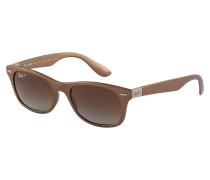 New Wayfarer Sonnenbrille Matte Brown RB4207 6033T5