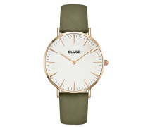 La Boheme Rose Gold White/Olive Green Uhr CL18023