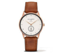 Signature Line Rose Gold/White Ocean Leather Uhr PH-M1-R-W-1M