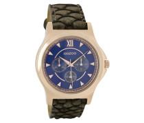 Timepieces Uhr DunkelBraun Snake/Blau C6573 (40 mm)