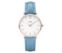 Minuit Rose gold/Retro Blue Uhr CL30046