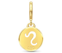 Leo Zodiac Coin Gold Charm 53346-5