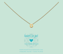 Heart For Initials Letter O Gold Charm L156INO13G