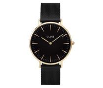 La Boheme Mesh Gold Black/Black Uhr CL18117