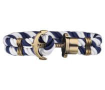 PHREPS Gold/Navy/White Nylon Anchor Armband PH-PH-N-NW-L