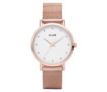Pavane Mesh Rose Gold/White Stones Uhr CL18303