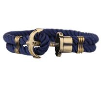 PHREPS Gold/Navy Nylon Anchor Armband PH-PH-N-N-L