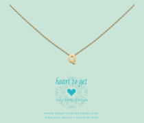 Heart For Initials Letter Q Gold Charm L158INQ13G