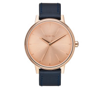 Kensington Leather Rose Gold Uhr A1082160