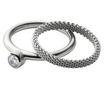 Elin Double Silver Ring SKJ0835040503