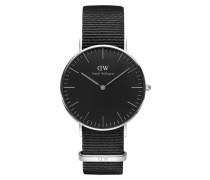 Classic Black Cornwall Uhr ( MM) DW00100151