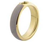 Vivid Resine Ring Taupe/Gold