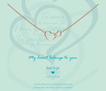 Entwined Hearts Rose Kette N244ENH15R