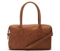 Buffed Leather Cognac Handtasche 2120100033027-M